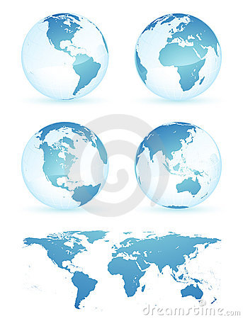 Free Earth Globes And Map Stock Photography - 7251332