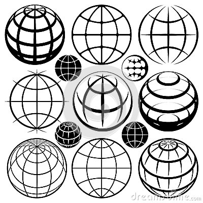 Earth globes signs