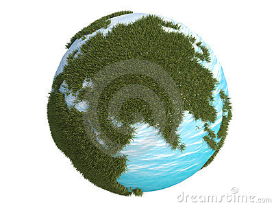 Earth green grass europe asia south north 3d cg