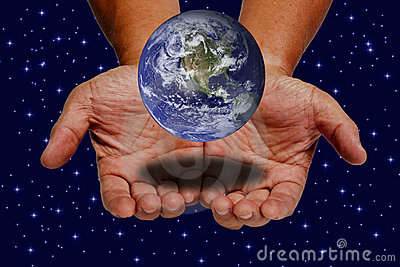Earth on hands
