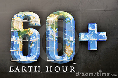 Earth hour Editorial Image