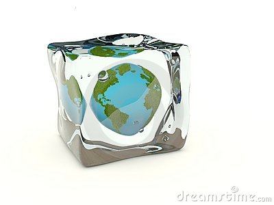 Earth in the ice cube