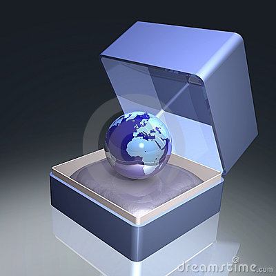 Free Earth In Gift Box Royalty Free Stock Photography - 6060607