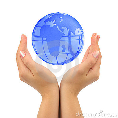 Free Earth In Hands Stock Image - 6353821