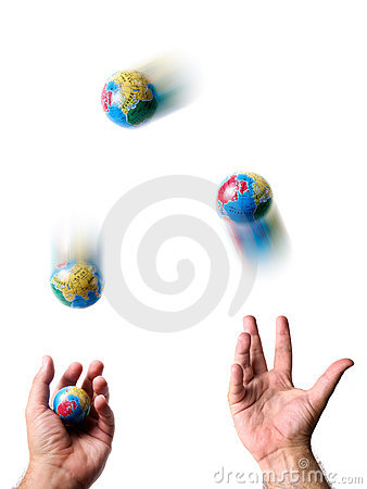 Earth juggler