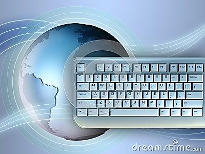 Earth and keyboard