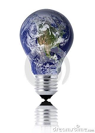 Earth lightbulb