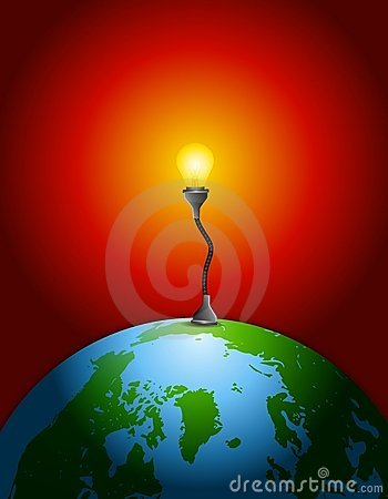 Earth Lightbulb Energy Source