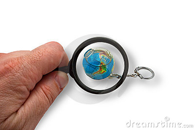 Earth is in magnifying glass