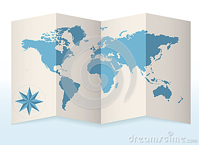 Earth Map On Paper Royalty Free Stock Image - Image: 26839816