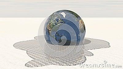 Earth melts into binary