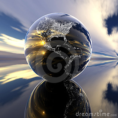 Earth model with reflection on