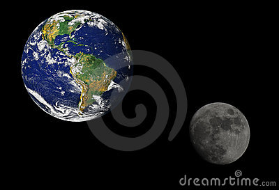 Earth And Moon Stock Photo - Image: 14458570