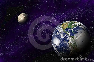 Earth and Moon in the deep universe