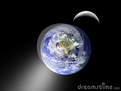 Earth moon and eclipse lunar cycle