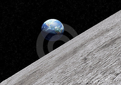 Earth moon surface