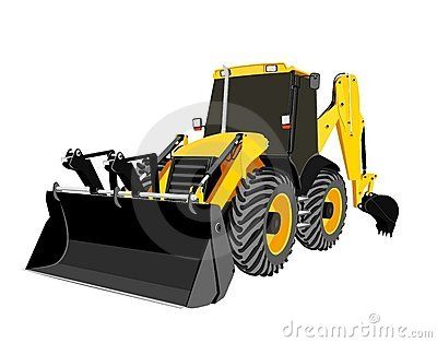 Earth-moving bulldozer