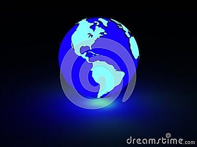 Image Gallery Neon Earth #1: earth neon glow