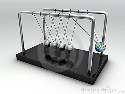 The Earth in Newton s Cradle