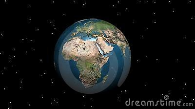 Earth in the night