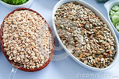 Earth nuts and Pumpkin seeds