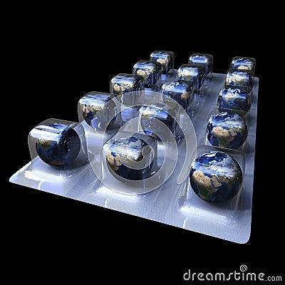 Free Earth Pills Royalty Free Stock Photo - 12876005