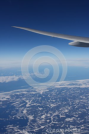 Plane Wing on Royalty Free Stock Photography  Earth And Plane Wings  Image  7781547