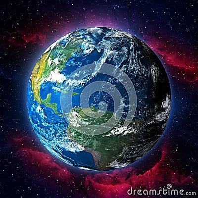 Earth planet illustration