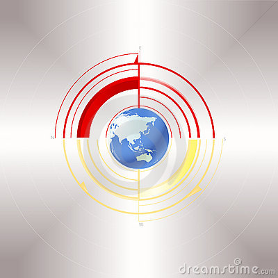 Earth And The Poles Royalty Free Stock Photos - Image: 13037208