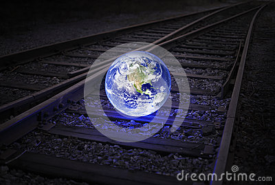 Earth on the rails
