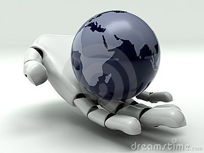 Earth In Robot s Hand