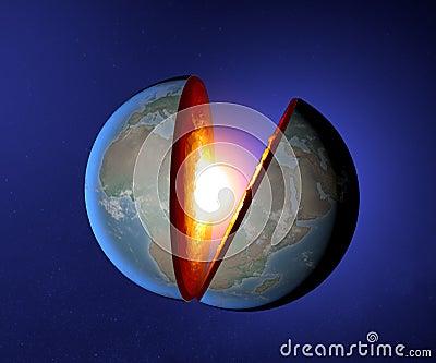 Earth s core, Earth, world, split, geophysics