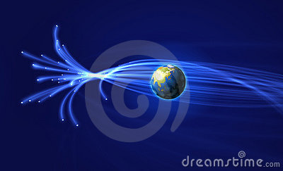Satellites surrounding Earth