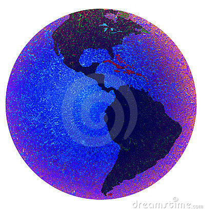 Earth showing the americas