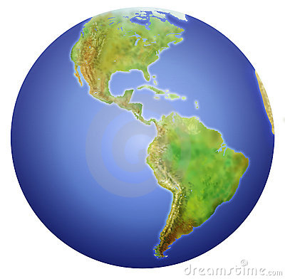Free Earth Showing North, Central, And South America. Stock Photography - 1455382