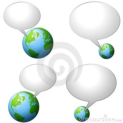 Earth With Talk Bubbles