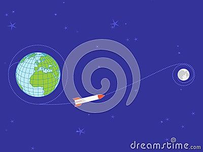 Earth-to-Moon flight trajectory
