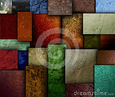 Earth Tone Texture Square Patterns