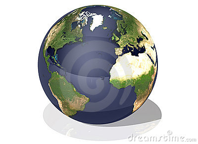 Earth top view