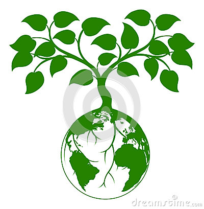Earth tree graphic