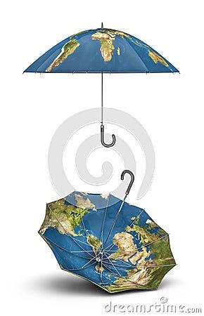 Earth umbrellas