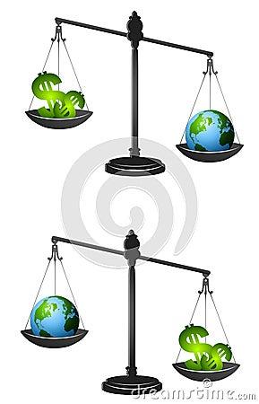 Earth Vs. Profits Metaphor