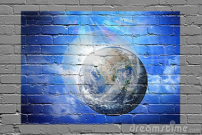 Earth Wall Graffiti Background