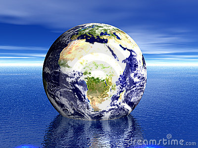 Earth in water! AFRICA