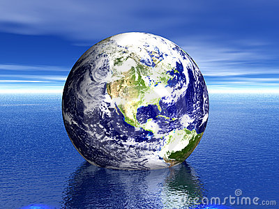 Earth in water! USA