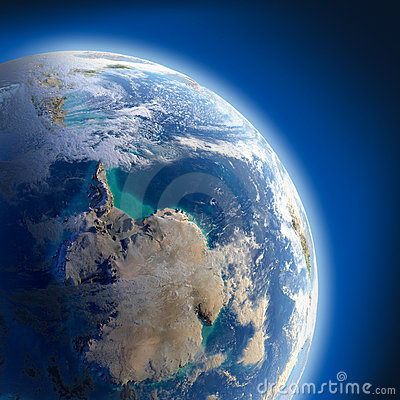 Free Earth With High Relief, Illuminated Stock Photography - 22775532