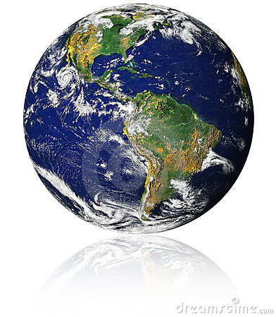 Free Earth With Reflection Royalty Free Stock Photos - 9306498