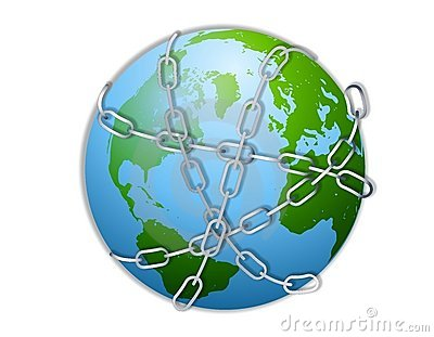 Earth Wrapped in Chains