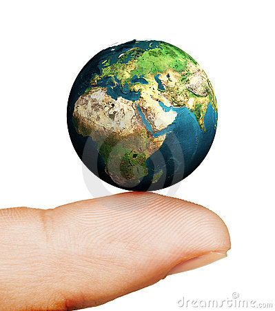 Earth on your finger