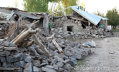 Earthquake in the Adır Village, Van. Editorial Stock Photo